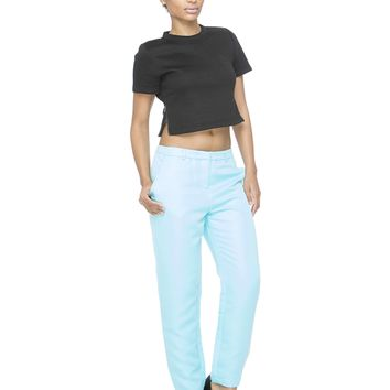 ISABELLE TROUSER PANT - POWDER BLUE