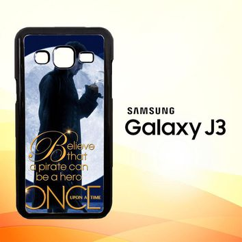 Once Upon a Time Captain Hook Believe F0542  Samsung Galaxy J3 Edition 2015 SM-J300 Case