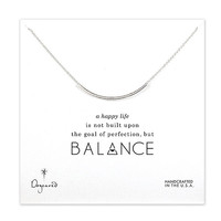 Dogeared Balance Tube Bar Necklace Sterling Silver - 18 Inch