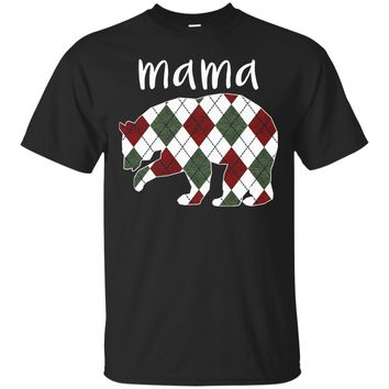 Women's Mama Bear TShirt-Mama Bear Plaid Shirt