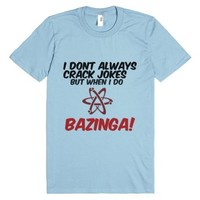 Bazinga-Unisex Light Blue T-Shirt