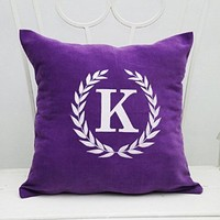 Monogram Pillow Case Custom Pillowcase Personalized Name Initial Decorative Pillow Cover Home Decor Monogrammed Throw Pillows Gift V7