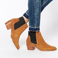 Miss KG Spider Tan Suede Chelsea Boots