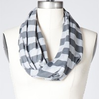 Horizon Striped Infinity Scarf- Monument