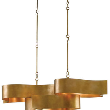 Currey Company Grand Lotus Oval Chandelier