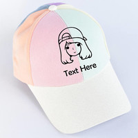 Custom Dad Hats Women - Print hat for show your identity -Baseball Cap , Hip Hop , Polo , Custom Text  On , Special gift