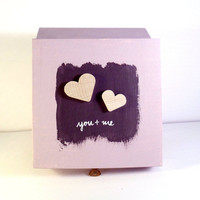 Love Treasure Gift Box Chest YOU and ME Wood by byAnnoDomini
