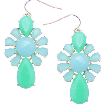 Flower Power Earrings (Turquoise)