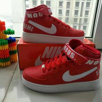 Nike Air Force 1 Unisex Sport Casual Letter High Help Shoes Sneakers Couple Plate Shoes