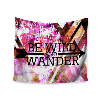 "Ebi Emporium ""Be Wild and Wander"" Pink Wall Tapestry"