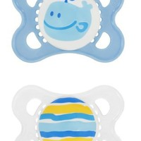 MAM 2 Pack Original Silicone Pacifier, 0-6 Months, Colors May Vary