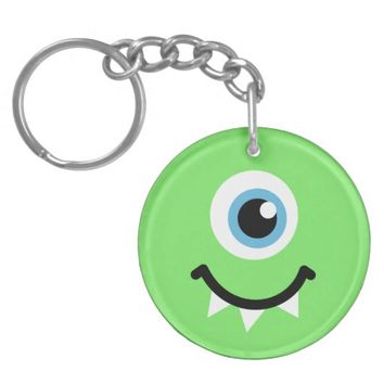 Green monster Double-Sided round acrylic keychain