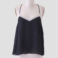 Perfect Weather Lace Accent Tank