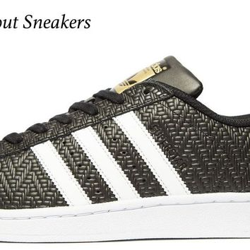 "Adidas Originals Superstar ""Black-White"" Men's Trainers All Sizes Available"