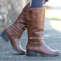 Madden Girl: Deckker Riding Boot {Tan}