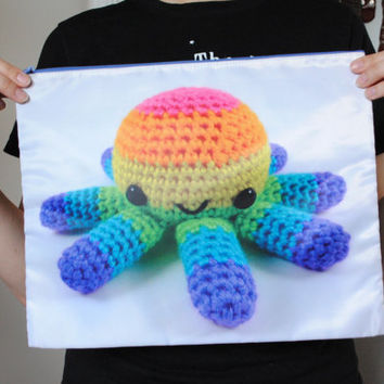 Giant Zipper Bag - Rainbow Big Octopus