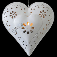 1 X metal heart shape Candlestick Wedding Home Decor Hang Candle Holders Romantic Candle Holders 061133