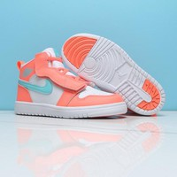 Air Jordan 1 White Orange Green Toddler Kids Shoes - Best Deal Online