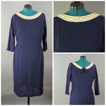 1950 Navy Dress RiteFit, Plus Size, Just In