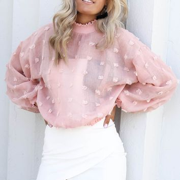 Power Of Love Pink Dotted Top