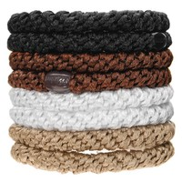 L. Erickson Ponytail Holders - Set of Eight - Neutral