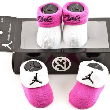 Nike Baby Girl Michael Jordan Jumpman Sock Booties, Pink, 0-6 Mos