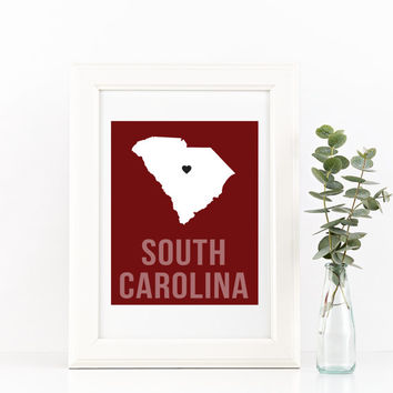 South Carolina Home Print – Custom South Carolina Print, South Carolina Wall Art
