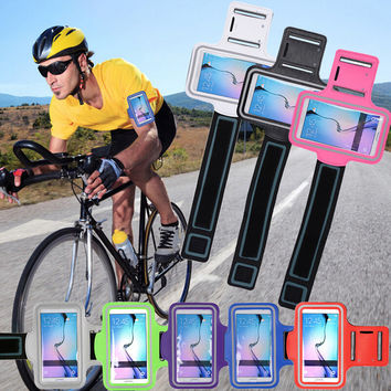 Bicycle Motorcycle Sports Waterproof Arm Belt creative case for iPhone 6 5 6S Plus Samsung Galaxy S6