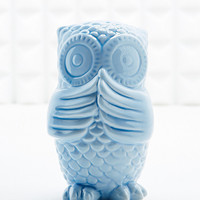 Speak No Evil Owl Money Bank in Blue - Urban Outfitters