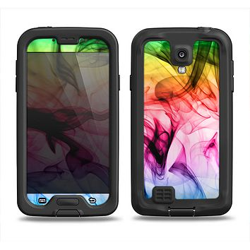 The Neon Glowing Fumes Samsung Galaxy S4 LifeProof Nuud Case Skin Set