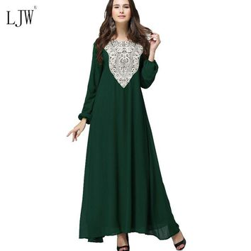 Muslim women Long sleeve Arab Dress  clothing Arab robes  kaftan  Malaysia fashion embroidery spring plus size dclothes