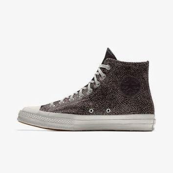 LMFON the converse custom chuck taylor all star 70 tumbled leather pony hair high top shoe