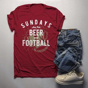 Men's Football T Shirt Sundays Are For Tshirt Football Beer Shirts Vintage Graphic Tee