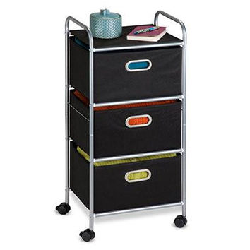 3 Drawer Rolling Fabric Cart