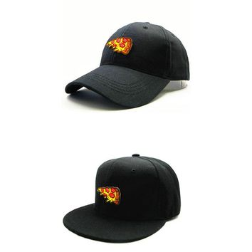Trendy Winter Jacket LDSLYJR 2018 Pizza embroidery cotton Baseball Cap hip-hop cap Adjustable Snapback Hats for kids and adult size 145 AT_92_12
