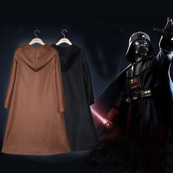 Adult Star Wars Jedi Knight Cloak Robe Darth Vader Hooded Cape Cosplay Costume Halloween Carnival Party Costume Acccessories