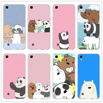 We Bare Ice Bear Panda Style for LG Spirit V10 V20 V30 G2 G3 Mini G4 G5 G6 K4 K7 K8 K10 HTC One Soft TPU Silicon Cell Phone Case
