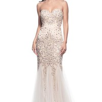 Strapless Mermaid Long Evening Gown