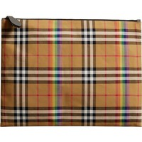 Burberry Large Check Canvas Pouch | Nordstrom