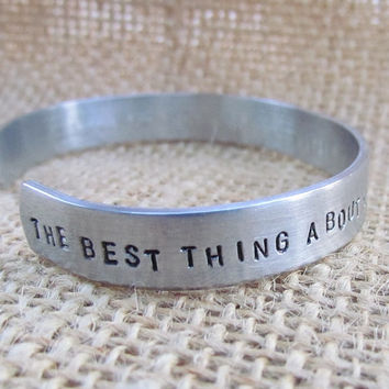 Sister Quote Hand Stamped Cuff Bracelet Gift Idea Friendship Handstamped Jewelry