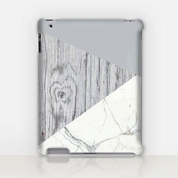 Marble-Wood iPad Case For - iPad 2, iPad 3, iPad 4 and iPad Mini, Fine Art Hard Case