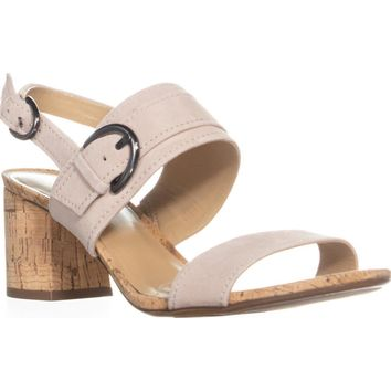 Naturalizer Camden Ankle Strap Block Heel Sandals, Soft Marble , 9.5 W US