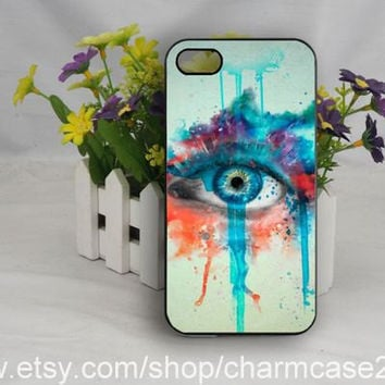 Oil Painting phone case cover,Eye samsung galaxy s3/s4 case,iphone case 4/4s,iphone 5/5s case,iphone 5c cover,Personalized