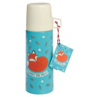 Rusty the Fox Stainless Steel Flask - From Maia Gifts