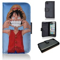Luffy One Piece 2 | wallet case | iPhone 4/4s 5 5s 5c 6 6+ case | samsung galaxy s3 s4 s5 s6 case |