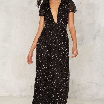 Nasty Gal Evening Star Plunging Maxi Dress