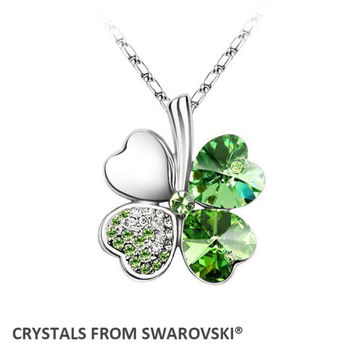 2016 summer style original hot sale clover necklace Crystals from Swarovski Christmas gift
