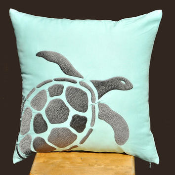 Turtle Decorative Throw Pillow Cover 18 x 18 Pillow by KainKain