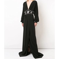 Gucci Embellished Dress - Black Long Sleeves Dress