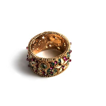 """Flower Power"" Gold Ring"
